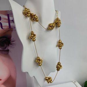 "Ann Klein vintage fashion gold tone necklace 17"""